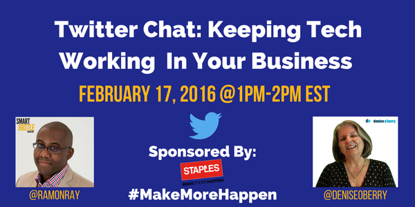Staples #MakeMoreHappen Twitter Chat